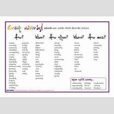 Adverbs List From Sparkleboxcouk  Slp Adverb Freebies  Pinterest Adverbs