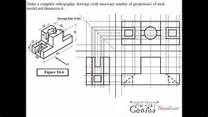 Engineering Drawing Tutorials  Orthographic Drawing 2 With