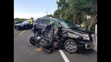 Motorcycle, Car Crash In Ponte Vedra