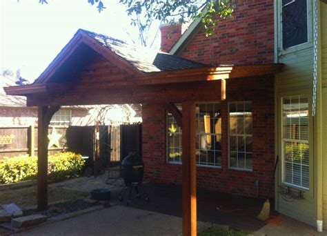 attached patio cover with gable in mckinney hundt