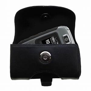 Gomadic Brand Horizontal Black Leather Carrying Case For