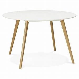 Table A Manger 120 Cm : table manger style scandinave ronde millet en bois 120 cm blanc ~ Dode.kayakingforconservation.com Idées de Décoration