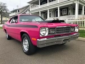 1973 Plymouth Duster 340ci   Tri Sp Panther Pink