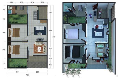 desain denah rumah minimalis  kamar tidur