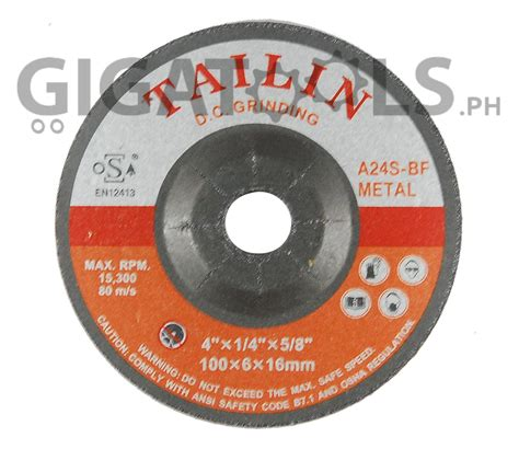tailin  grinding disc  steel gigatoolsph
