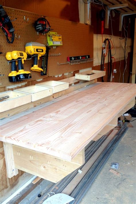 diy folding workbench easy instructions  building