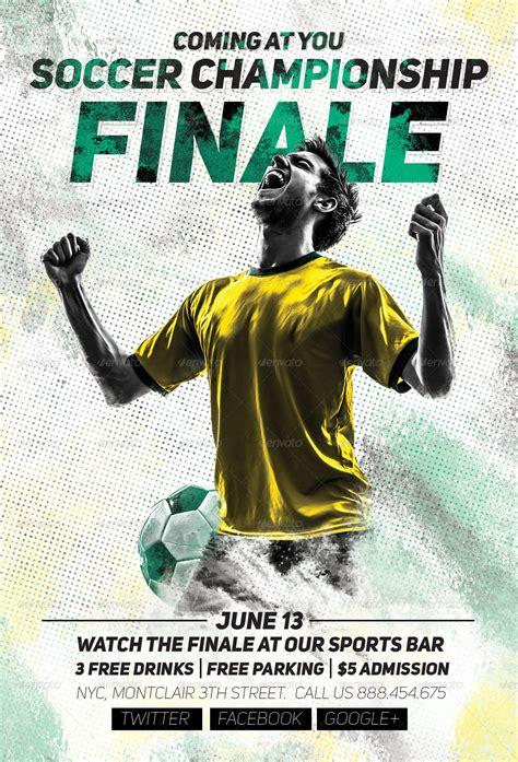 soccer championship finale flyer  sanchyz graphicriver