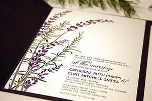 sample lavender wedding invitation with rosemary by vohandmade With lavender wedding invitations etsy