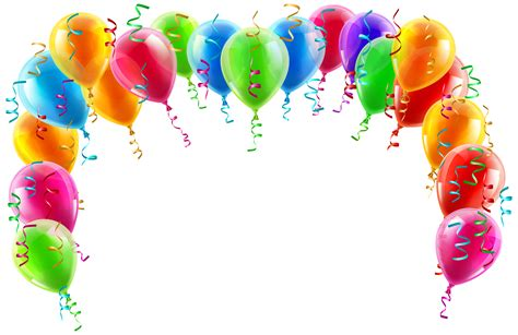 Balloons clipart transparent background balloon banner