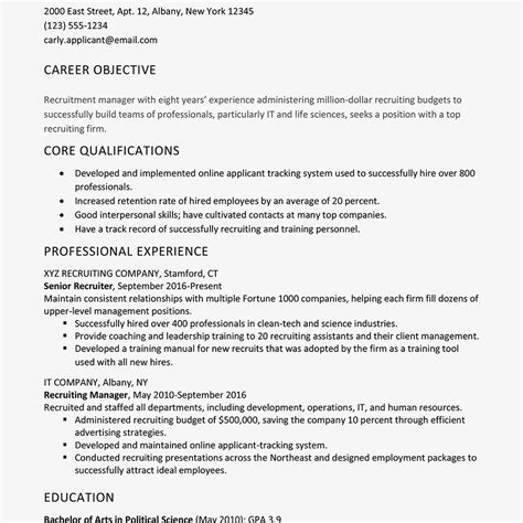 How To Write A Detailed Cv by Goals Exles