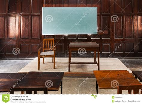 old fashioned wall ls wood panelled classroom stock photo image of learning