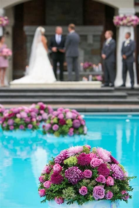 poolside wedding images  pinterest floating