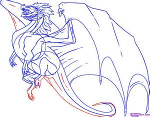 How to Draw Flying Dragon Drawing