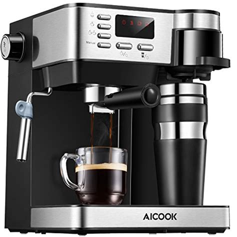Nespresso vertuoplus comes with the coffee and espresso combination machine review: Buy Aicook Espresso and Coffee Machine, 3 in 1 Combination 15Bar Espresso Machine and Single ...