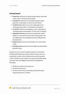 Herstellkosten Berechnen Excel : kosten und leistungsrechnung download business ~ Themetempest.com Abrechnung