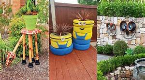 13 personnages rigolos a creer pour decorer votre jardin With déco chambre bébé pas cher avec pot fleur couleur plastique