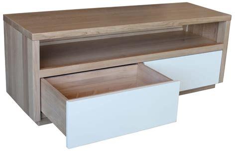 buffet tv  tiroirs  niche noyer naturel
