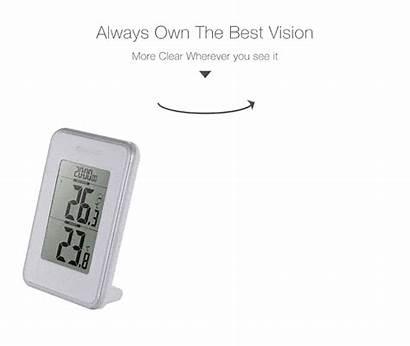 Outdoor Indoor Clock Temperature Dg Digital Digoo