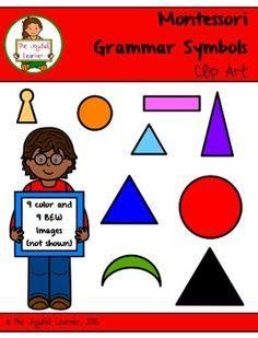 Grammar Symbol Charts  Language  Pinterest  Montessori Education, Montessori Materials And