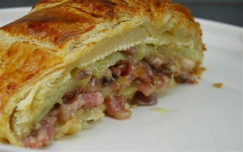 cuisine de l etudiant recette feuilleté au camembert lardons et pommes de terre