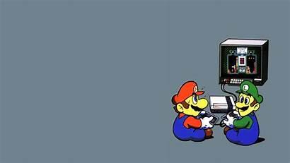 Luigi Mario Games Playing Gray Wallpapers Imagenes