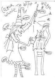 english worksheet winnie  witch  imagenes