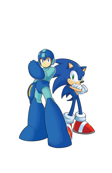 Sonic And Megaman Vector By Marioandsonicfan19 On Deviantart