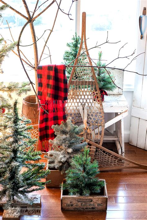 logged netted christmas trees in manchester tree forest with diy reclaimed wood crate skirtfunky junk interiors