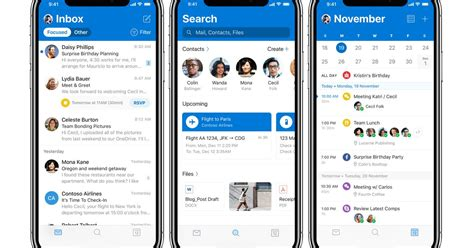 microsoft outlook for ios is getting a new design and mode the verge