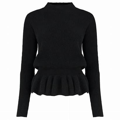 Peplum Sweater Cashmere Scotlandshop Womens Sweaters