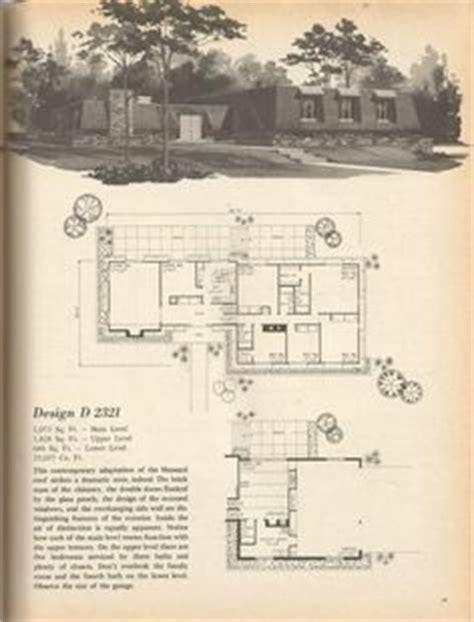 vintage house plans mid century homes  homes vintage house planss pinterest