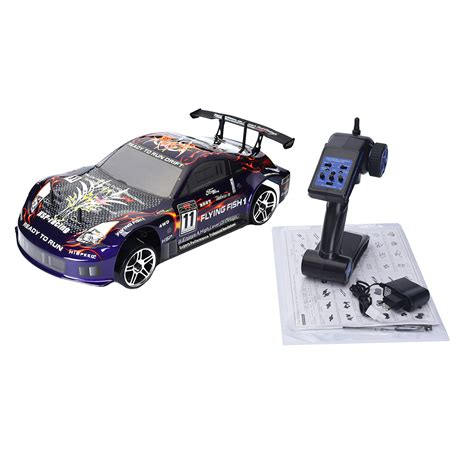 Rc Drift Car Hsp 94123 4wd 1/10 Electric Flying Fish