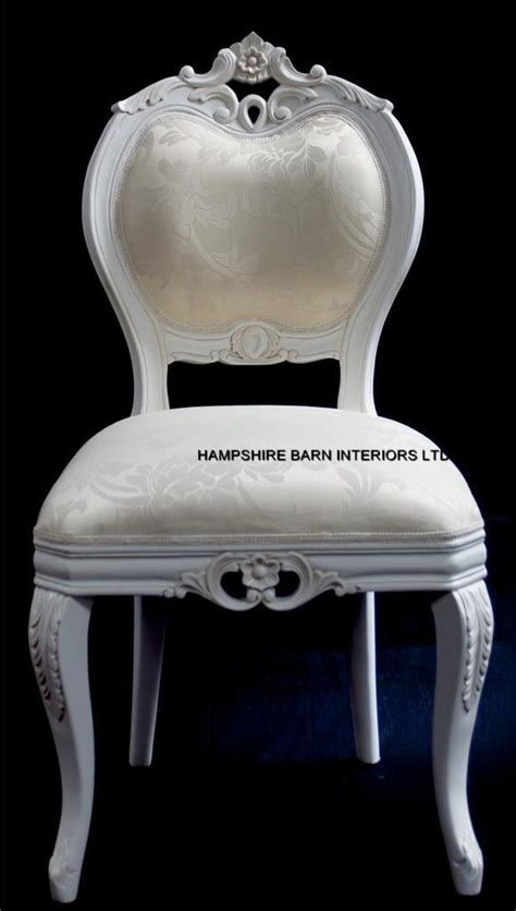 chateau style boudoir ornate white chair dining
