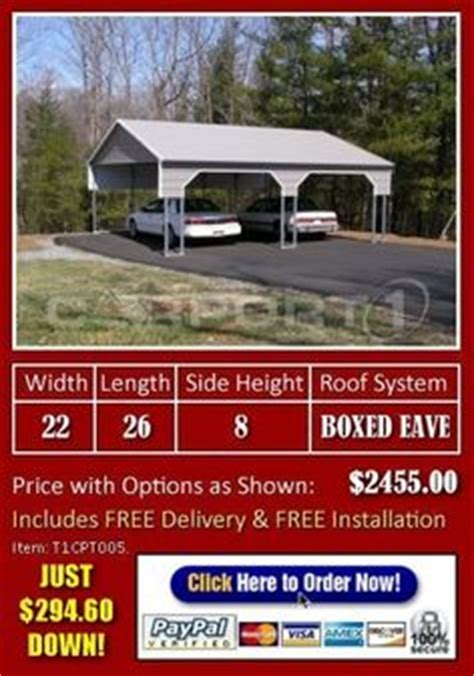 2 Car Carport Cost by 1000 Ideas About Metal Carports Prices On