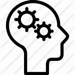 Mind Svg Gears Icon Creative Training Adaptive