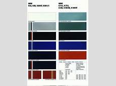As cores dos modelos da BMW, ao longo dos tempos BMW