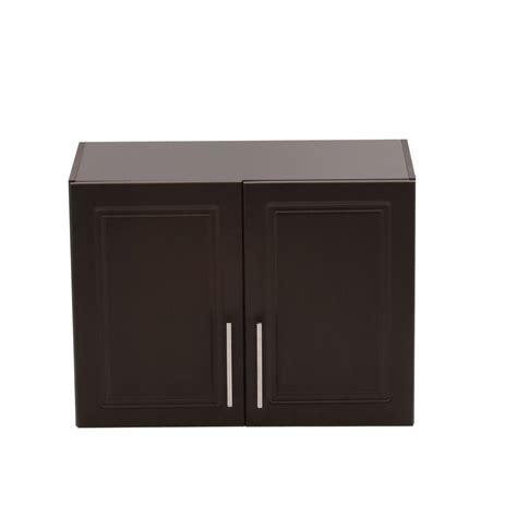 hton bay select 2 door mdf wall cabinet in espresso