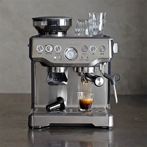 barista espresso machine breville barista express espresso maker williams sonoma