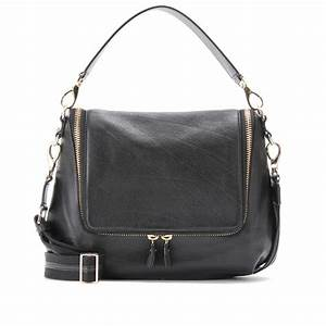Anya Hindmarch Maxi Zip Leather Shoulder Bag in Black | Lyst
