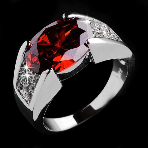 fashion jewelry jewellery ruby wedding rings s 10kt white gold filled rings white