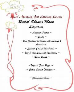 Bridal shower brunch menu ideas 99 wedding ideas for Wedding shower menu ideas