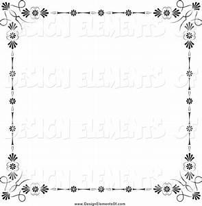Vector Illustration of a Black Floral Border by Frisko ...