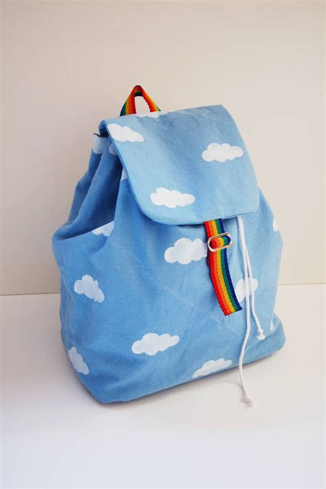 backpack backpacks tutorial bag cloudy bags pattern trendy sewing handbag jeans purses rainbow decoration patterns rainbows purse chance rucksack petit