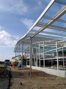 Steel Frame Building Under Construction