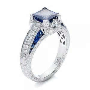 sapphire and engagement ring sapphire engagement rings custom design rings in bellevue and seattle