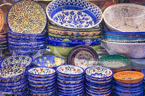 turkish handmade pottery typical handicraft high res stock