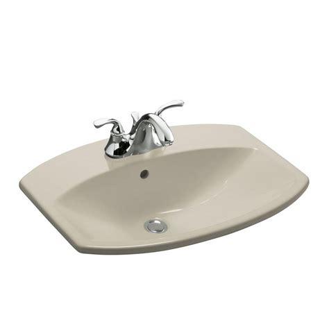 Kohler Sink Bathroom by Kohler Cimarron Drop In Vitreous China Bathroom Sink In
