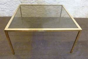 Couchtisch Gold Glas : italienischer vintage glas messing couchtisch ~ Whattoseeinmadrid.com Haus und Dekorationen