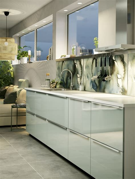 Ikea Küche Installationsleitfaden by Kallarp Ladefront Hoogglans Lichtgroen Kitchen Ikea