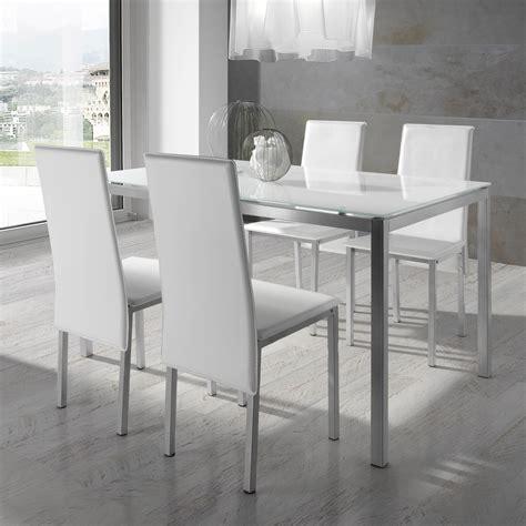 alinea cuisine catalogue ensemble table à manger rectangulaire métal et verre
